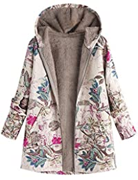 Logobeing Abrigo Invierno Mujer Chaqueta Suéter Jersey Mujer Cardigan Mujer  Tallas Grandes Outwear Floral Bolsillos con 6017e96053d6