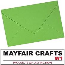 Mayfair Crafts - Sobres (100 unidades, tamaño C6), color helecho verde