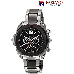 Fabiano New York Black & Silver Mens & Boys Casual Analog Wrist Watch