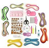 20PCS Kit Quilling Papel Herramientas de bricolaje Decoupage Papelería con tijeras peine Pegamento de abrazadera