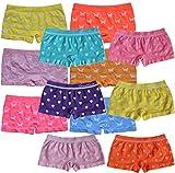 6 | 12 Stück Mädchen Pantys Hipster Shorts Girls Kinder Unterhosen Kids Unterwäsche Mikrofaser 92 bis 158 (128-140, 12er Motiv-Mix 6/6)