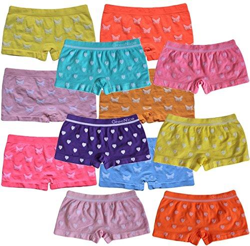 6 | 12 Stück Mädchen Pantys Hipster Shorts Girls Kinder Unterhosen Kids Unterwäsche Mikrofaser 92 bis 158 (110-122, 12er Motiv-Mix 6/6)