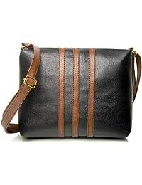 Auriel Women's PU Leather Sling Bag (Black)