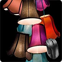 BGLKCS Mouse Pad Fabric Topped Rubber Backed Lamps Light Lampshade Screen Deco Living Room LED