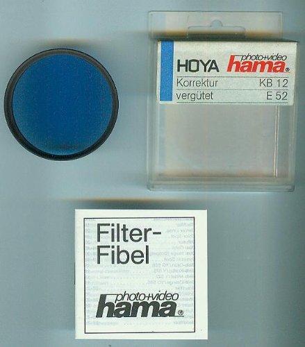 Hoya Hama Korrektur-Filter / Korrekturfilter KB 12 (80 B) 446/520 - vergütet - E52