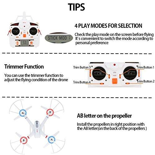 GoolRC X101 WIFI FPV Drone con 720P HD Camera Video in tempo reale Quadcopter con 3D VR auricolare, One-Key di Ritorno & modalità headless & 360 gradi Flips