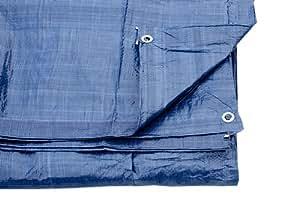 Bleu Bâche Couvre-sol Feuille avec oeillets 7M X 9M 80 Gsm