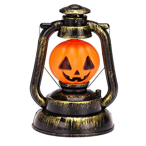 huayang| Akku Vintage Retro Stil Halloween Dekoration Laterne Mood Lichterkette, Kürbis Hexe Night Light Garten mit Horrible Stimme für Party kürbis