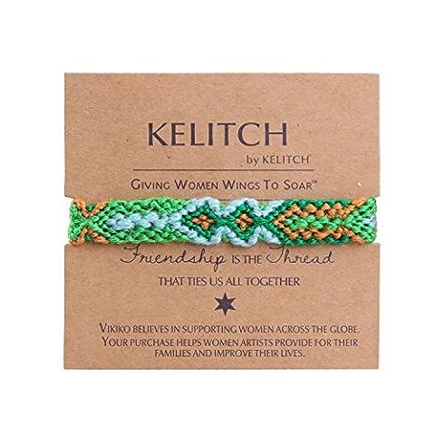 KELITCH Grün Woolen Handgefertigt Geflochtene Freundschaft Armband Armbänder