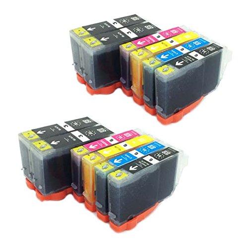 Preisvergleich Produktbild 12 Druckerpatronen kompatibel zu BCI-3e BK , BCI-6C , BCI-6M , BCI-6Y ,BCI-6PBK für CANON Pixma IP3000 IP4000 IP4000R IP5000 MP750 MP760 MP780 i550 i560 i865