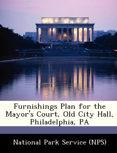 Furnishings Plan for the Mayor's Court, Old City Hall, Philadelphia, Pa -