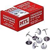 MTL 79217 - Pack de 100 chinchetas niqueladas