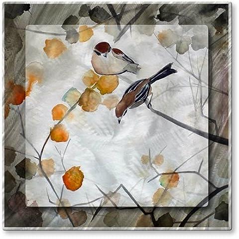 Uccelli in metallo Scultura da parete in USA Art Fall