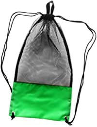 HOMYL Mesh Drawstring Bag with Shoulder Strap for Scuba Dive Fins Goggles  Snorkel eff8a0471b405