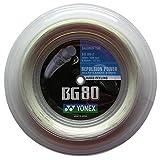 Yonex bg-80 200 ROTOLO M badminton Stringa per racchetta SCURO Bianco NUOVO Wow - all-in-one-outlet-24