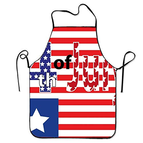 Fourth of July Aprons Printed Apron for Gardening BBQ Men