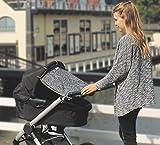 Dooky Design Sonnenschutz Sonnenblende für Kinderwagen und Babyschalen Grey Leaves