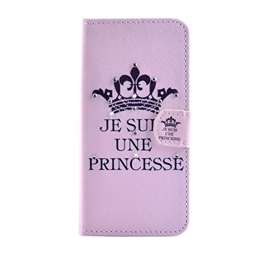 """MOONCASE Étui pour iPhone 6 (4.7"""") Coque en Portefeuille Cuir Housse de Protection Étui à rabat Case Mi07 Mi07 #1130"""