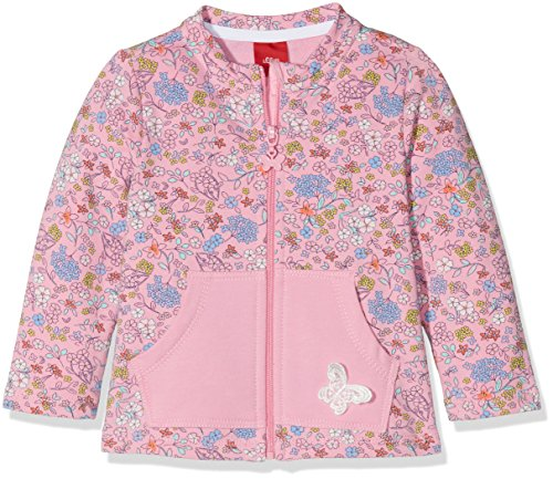 s.Oliver Baby-Mädchen Sweatshirt 65.803.43.4984, Rosa (Pink Aop 44a6), 80