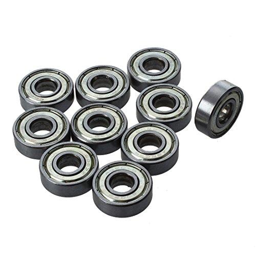 SODIAL (R) 10 Stueck Skateboard Scooter Kugelrollen Mini Kugellager Riemenscheiben Lager 8 * 22 * 7 mm