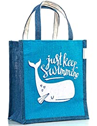 H&B Multipurpose Waterproof Jute Lunch Bag/Tote Bag/Shopping/HandBag For Office Executive Men/Women/Girls/Unisex...