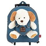 PERLETTI Plüschtier Hund Kindergepäck Rucksack für Kinder - Kinderrucksack mit Abnehmbaren...