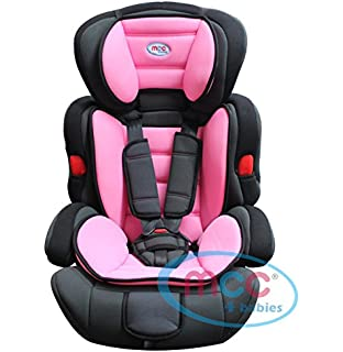 Mcc Pink 3in1 Convertible Baby Child Car Safety Booster Seat Group 1/2/3 9-36 kg