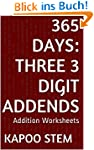 365 Addition Worksheets with Three 3-...