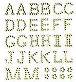 GLOREX P und D Buchstaben 13 mm A-M Selbstklebend, Plastik, Gold, 14.5 x 8.6 x 0.2 cm