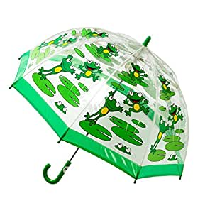 Bugzz – Parapluie transparent pour enfant – Modèle Grenouille