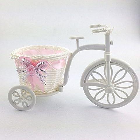 LQK-Großes Rad runden Korb Rattan Stöcke dreirädrige Schwimmer Blumenschmuck Dekoration Handwerk , 12cmx11cm