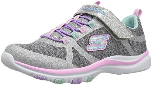 Skechers Mädchen Sneaker Trainer Lite - Jazzy Jumper 81485L Gray/Mint 30