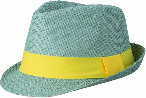 Myrtle Beach Hut Street Style, light-grey/yellow, L/XL, MB6564 lgye (Trilby Mütze, Hut,)