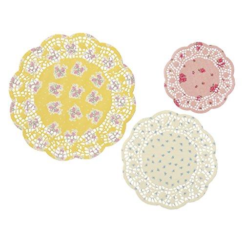 Talking Tables Truly Scrumptious Napperons de Présentation en Papier à Motif Floral pour Goûter Festif, Mariage et Fête d'Anniversaire, Multicolore (Paquet de 24)