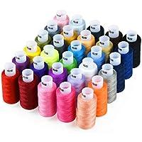 Candora Assortiment de fil à coudre Bobine 30Couleur de 228,6m chaque Polyester Fil à coudre kit tout usage Polyester Filetage, 30pc