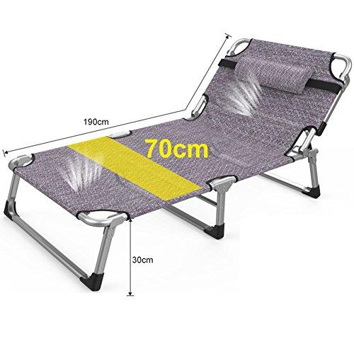 L&J Tragbare Klappstühle,Chaise Lounges Büro Klappbett Für Terrasse Camping Strand Außenpool...