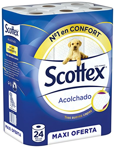 Scottex Quilted P24 – Paper Roll, 24 Rolls