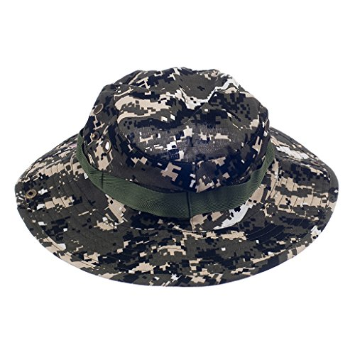 Imported Mens Camo Military Boonie Cap Sun Bucket Brim Army Fishing Hiking Hat #2  available at amazon for Rs.435
