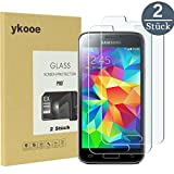 ykooe Galaxy S5 Mini Displayschutzfolie S5 Mini Glas Folie Klar Full Screen Panzerglas 3D Touch mit 2.5D Gekrümmten Rand Hohe Härte 9H Schutzfolie für Samsung Galaxy S5 Mini (2 Stück)