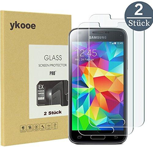 ykooe Galaxy S5 Mini Bildschirmschutzfolie S5 Mini Glas Folie klar Full Screen Panzerglas 3D Touch mit 2.5D Gekrümmten Rand Hohe Härte 9H Schutzfolie für Samsung Galaxy S5 Mini (2 Stück)