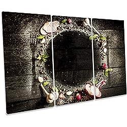 Canvas Geeks Mantel Individual para Cocina, diseño de árbol, Color Negro, 120cm Wide x 80cm High