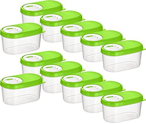 Haushaltsdose Gewürzdosen 0,14l 12er Set grün