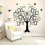 Grand Arbre Généalogique Arbre De Photo En Forme De Coeur Sticker Mural, T'Aime Pour Toujours Oiseaux Stickers Murale Art Home Decor Amovible 160X204Cm