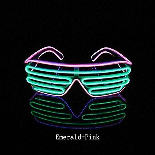 FEIYANG® Musik Sprachgesteuerte Gläser Brille Leuchten EL Wire Intelligente Hell Shutter Multicolor Brillen am besten für Party, Clubbing, Konzert, Karneval, Karnevalnacht, Diskothek and Bühnen-Performance
