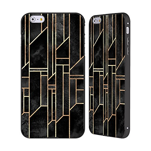 Offizielle Elisabeth Fredriksson Goldene Stadt Geometrisches Designs Und Muster Schwarz Rahmen Hülle mit Bumper aus Aluminium für Apple iPhone 5 / 5s / SE Schwarze Himmel