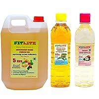 FITLITE Combo Family Pack Groundnut Wood Chekku Oil 5 LTR + Sesame Chekku Oil 0.5 LTR + Coconut Wood Chekku Oil 0.5 LTR
