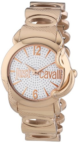 Just Cavalli Eden Women's Quartz Watch with White Dial Analogue Display and Pink Stainless Steel Strap R7253576506