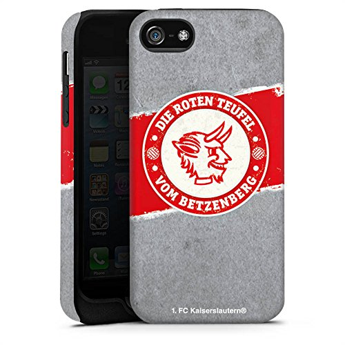 Apple iPhone 7 Hülle Premium Case Cover 1. FC Kaiserslautern Fanartikel FCK Tough Case matt