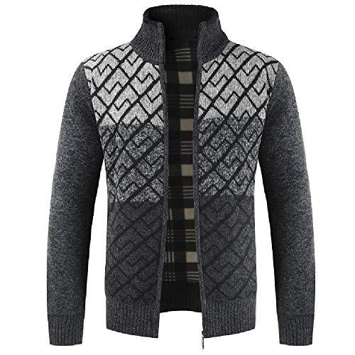 2018 KPPONG Mode Herbst und Winter Einfarbig Männer Reißverschluss Kragen Strickjacke Langärmelige Jacke
