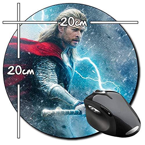 Thor El Mundo Oscuro The Dark World Chris Hemsworth B Mauspad Round Mousepad PC (Hemsworth B)